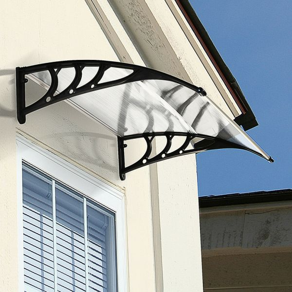 UV Rain Protection Door Canopy - White
