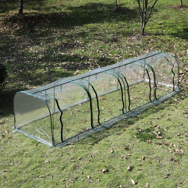 PVC Transparent Greenhouse Polytunnel - Green