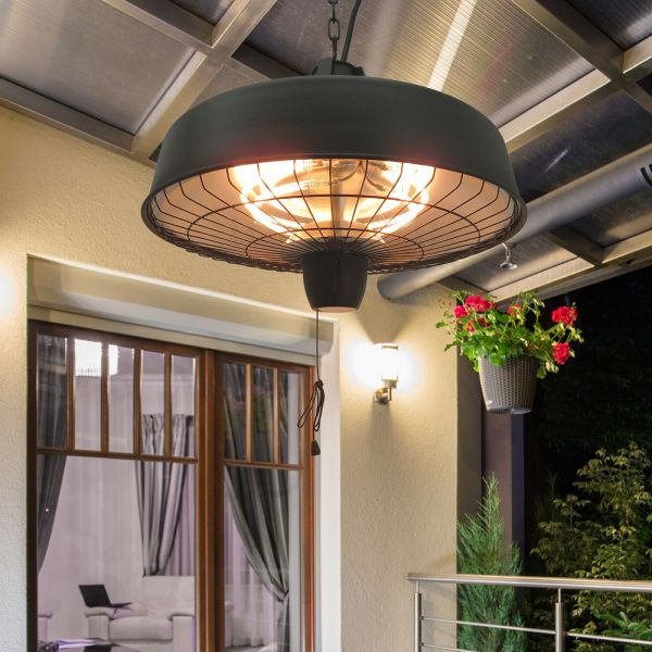 Halogen Ceiling Mounted Patio Heater - 1000/2500W