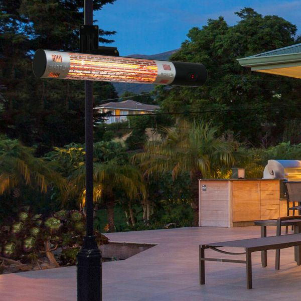 Electric Halogen Wall Mount Patio Heater With Remote Control -1500W