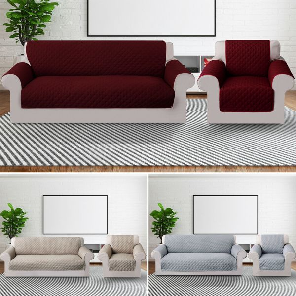 Pet protect sofa slip waterproof cover -  Grey and Beige