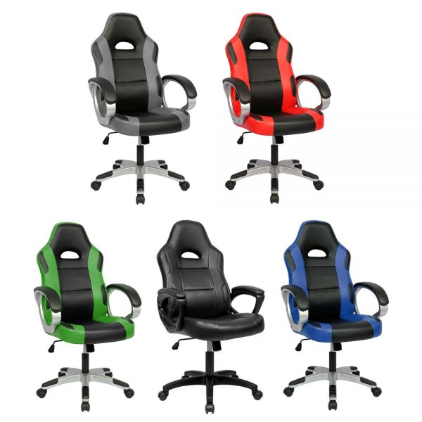 Swivel PU Leather Gaming Chair - 5 Colours