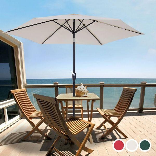 Outsunny Garden Aluminium Frame Patio Umbrella Sun Shade - 3 Colours