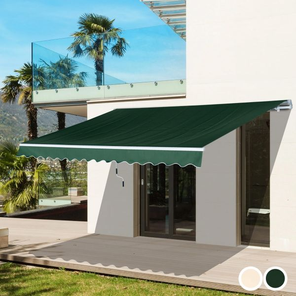 Outsunny Retractable Awning - 2 Colours