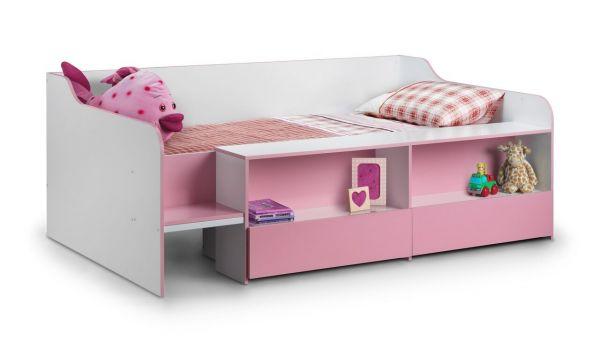 Julian Bowen Stella Low Sleeper Bed - Pink, Blue or White