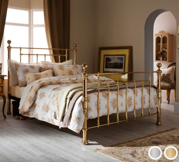 Benjamin Metal Bed - 4 Sizes - Brass or Nickel