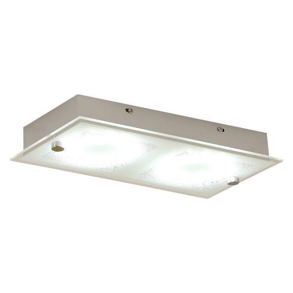 Homcom LED Ceiling Light Rectangular Flush Glass Lamp (12W)