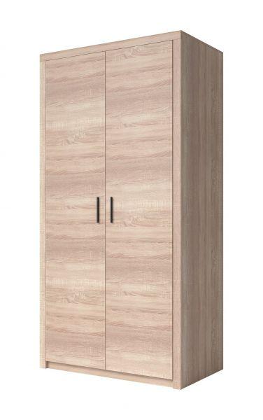 Nezin 2-Door Wardrobe 103cm - Sonoma Oak