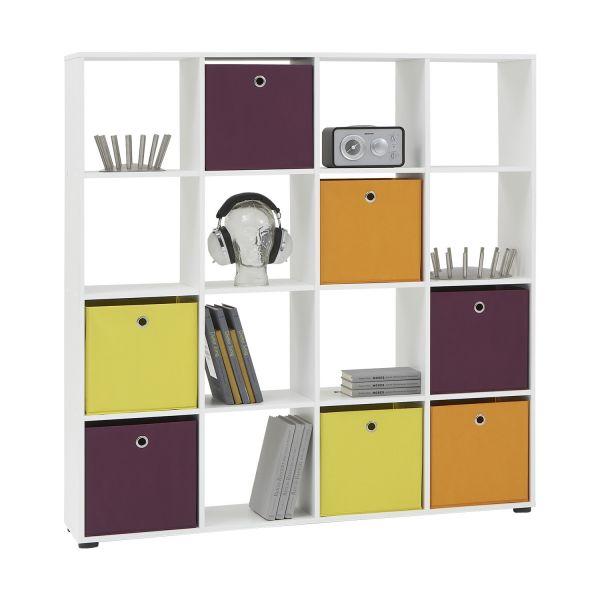 Mega 6 White Storage Cubed Room Divisor