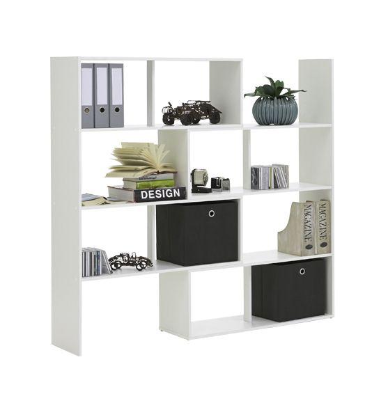 Stretch White Storage Cubed Room Divisor
