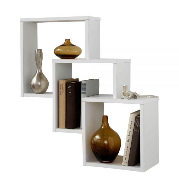 Fibi White 3-Cube Display Storage Shelf
