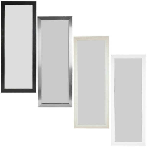 Wall Hanging Wooden Frame Bedroom Mirror Various Colour - 2 Sizes