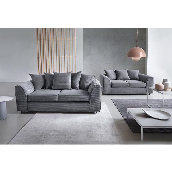 Jill Jumbo 3+2 Seater Sofa - Brown, Grey