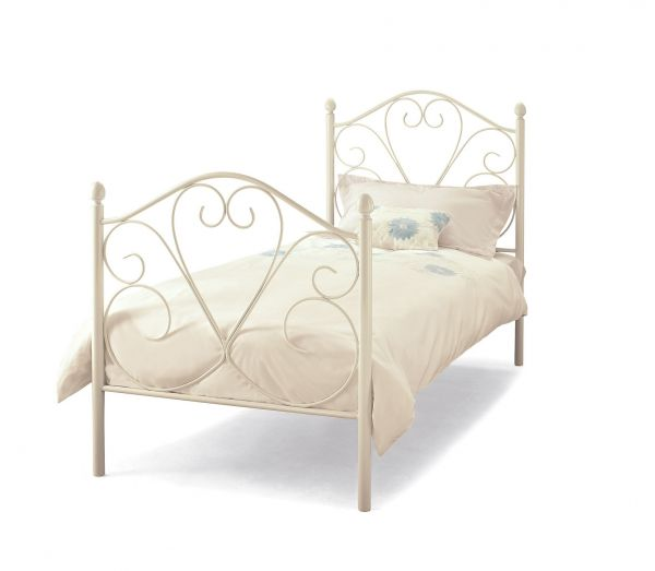 Isabelle Metal White Gloss Single Bed