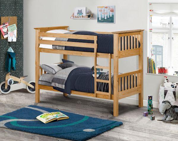 Julian Bowen Barcelona Bunk Bed - Stone White or Pine