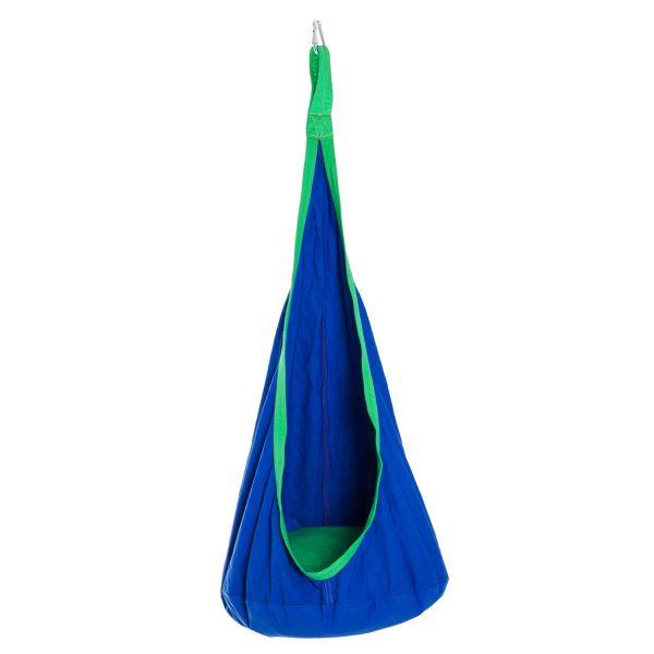 HOMCOM Kid's Hanging Swing Pod Hammock - Blue
