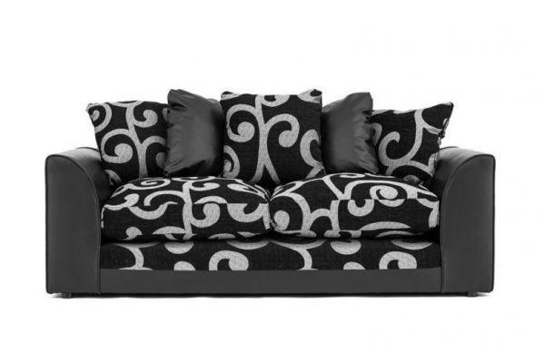 Zenith Swirl Fabric 3-Seater Sofa