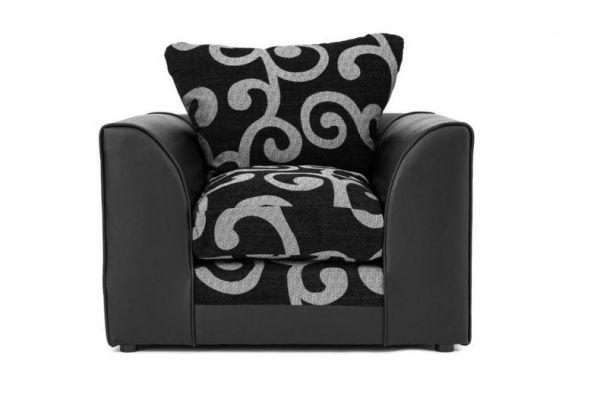 Zenith Swirl Fabric Armchair