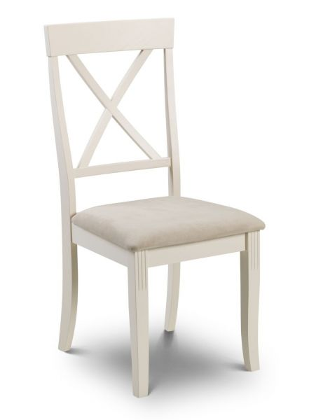 Julian Bowen Davenport White Ivory Dining Chair