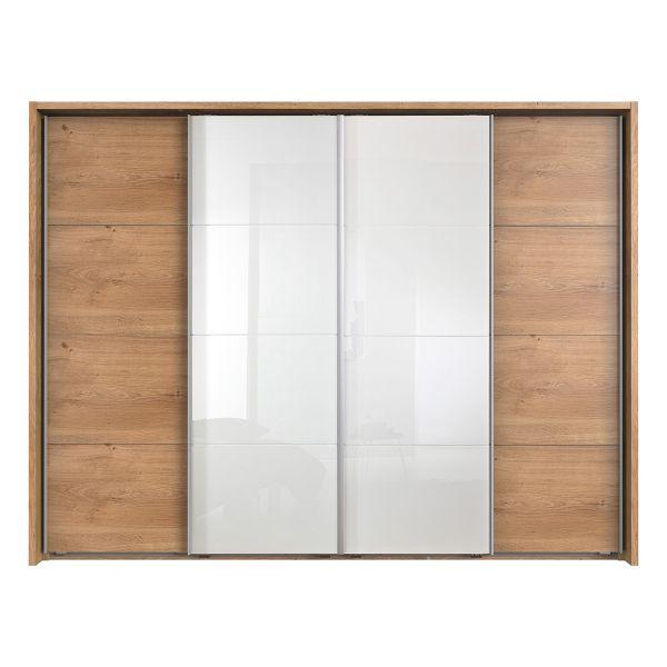 Bacoor 4 Door Sliding Wardorbe - Oak and White