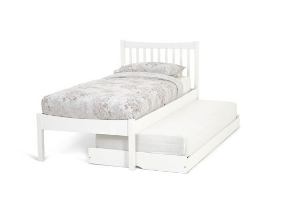 Alice Hevea Wood Guest Bed & Trundle - Oak or White