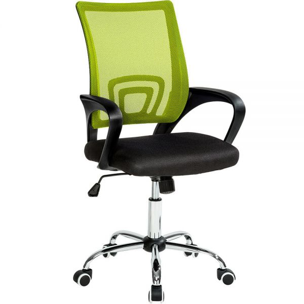 Adjustable Office Swivel Chair With Lumbar Support - 3 Colours