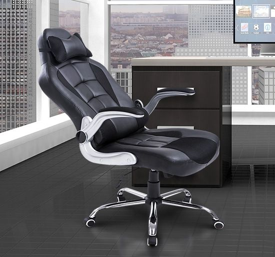 High Back Racing Office Chair (Black, White, Red)