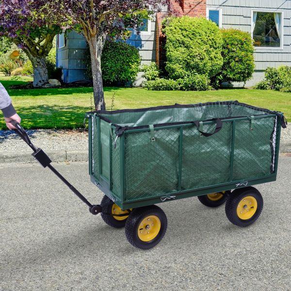 Homcom Garden Wheelbarrow Trolley Cart - Green