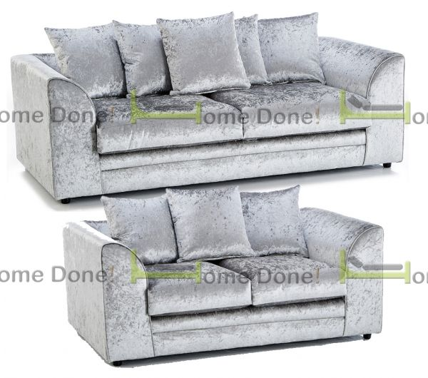 Arabia Crushed Velvet 3 and 2 Sofa Set