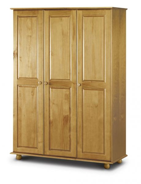 Julian Bowen Pickwick Pine 3-Door Fitted Wardrobe
