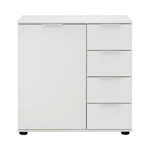 Medina 1 Door 4 Drawer Combi Storage Chest - White