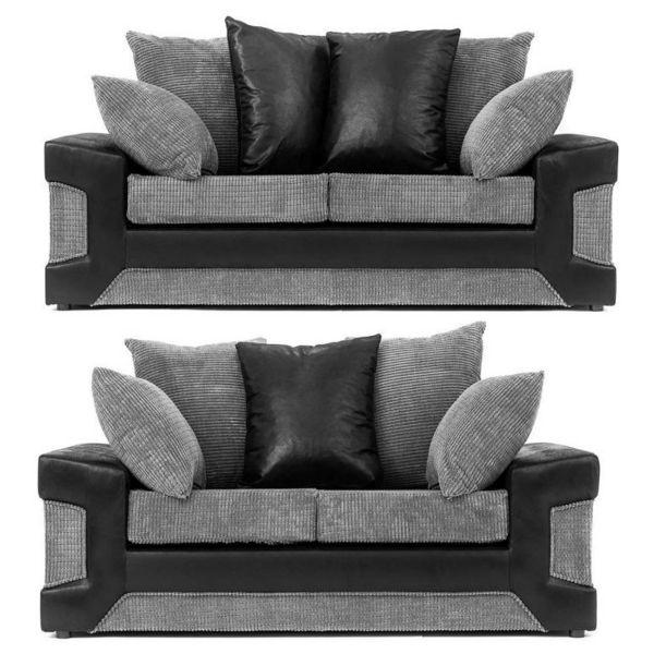 Denzel 3 & 2-Seat Cord Fabric Sofa Set