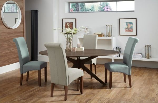 Waltham Large Oval Walnut Dining Table
