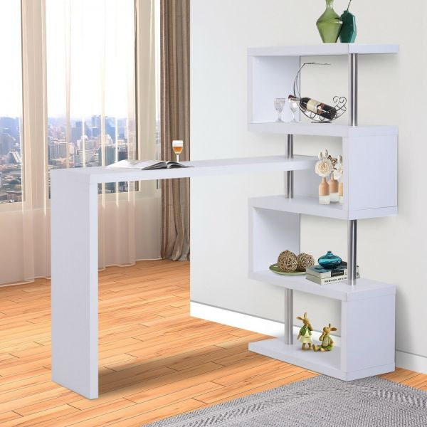 Homcom Modern Bar Display Table - Black or White