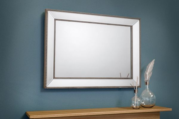 Julian Bowen Symphony Beaded Wall Mirror