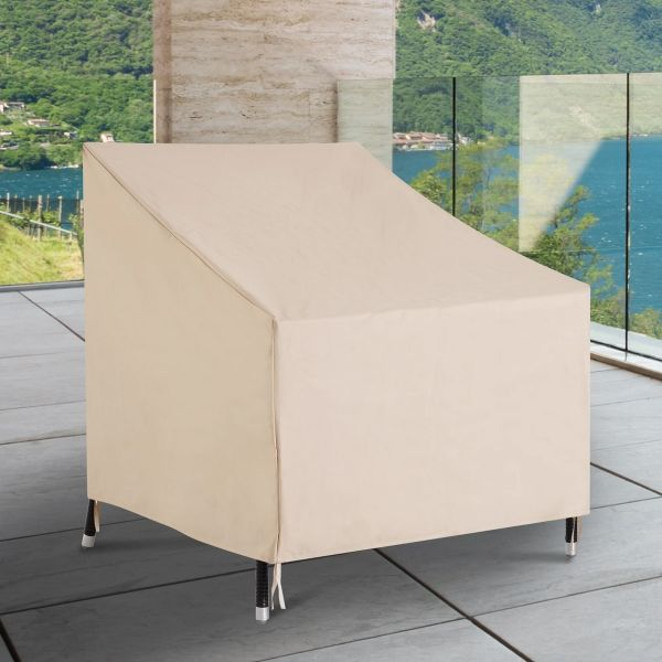 Outsunny Waterproof Furniture Cover For Single Chair - Beige