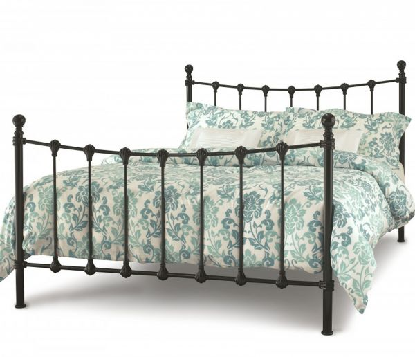Marseilles Elegant Metal Bed - 5 Sizes - Ivory or Black