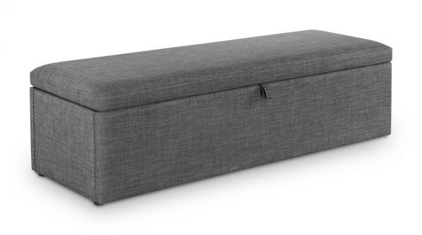 Julian Bowen Sorrento Slate Grey Linen Blanket Storage Box