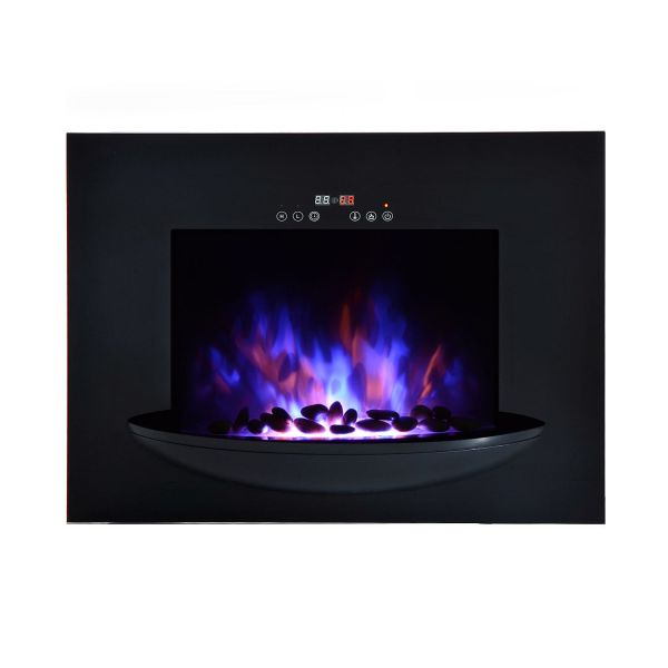 Homcom 1.8KW Wall Mount Electric LED Fireplace