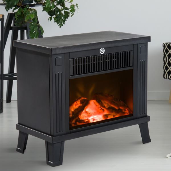 Homcom 1.2KW Freestanding Log Flame Fireplace