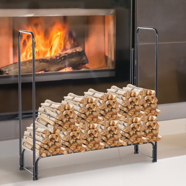 Homcom Steel Firewood Log Rack