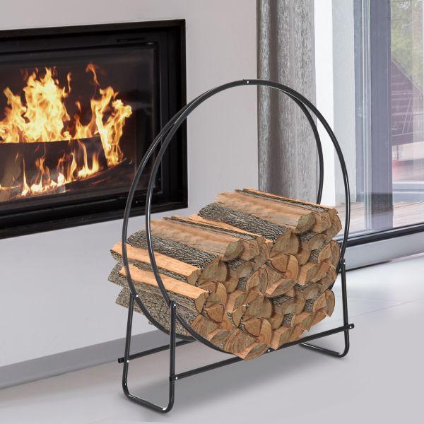 Homcom Round Firewood Log Rack