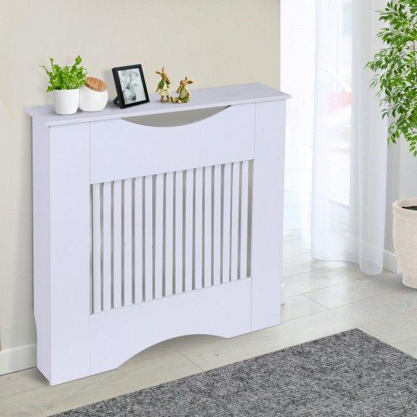 Homcom Slatted Radiator Heater Cover - White