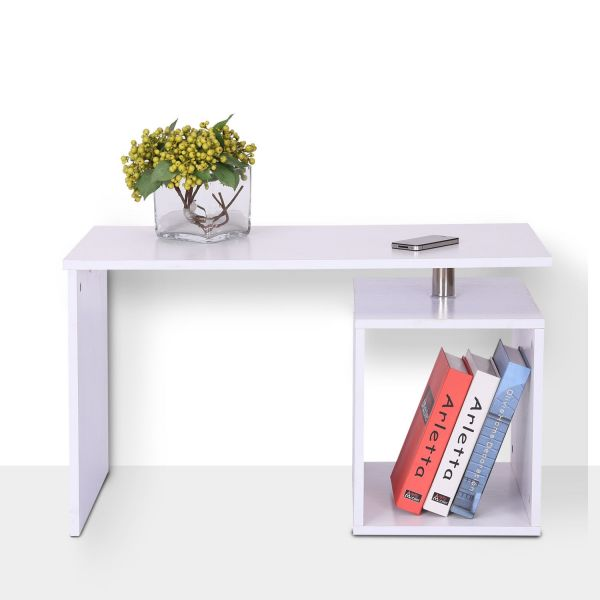 Homcom White Cubed Side End Coffee Table