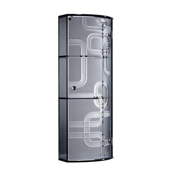 Homcom 3-Shelf Glass Wall Mount Display Storage Cabinet