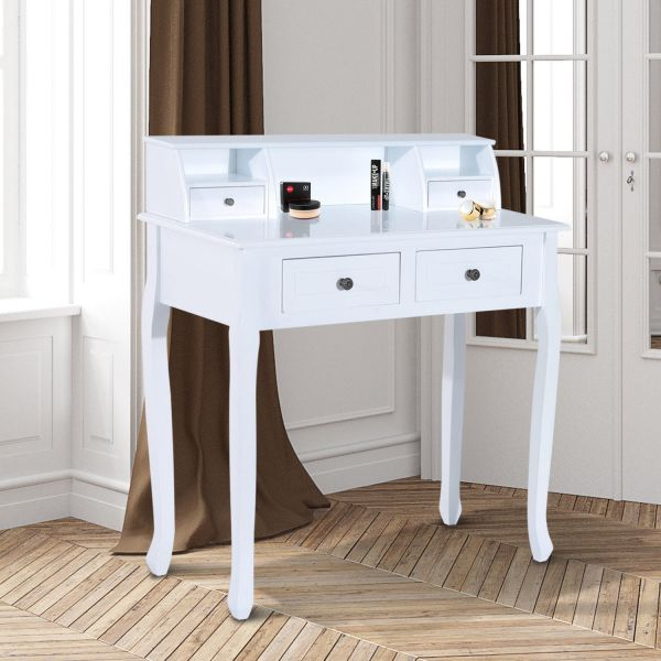 HOMCOM 4 Drawers Dressing Table in White