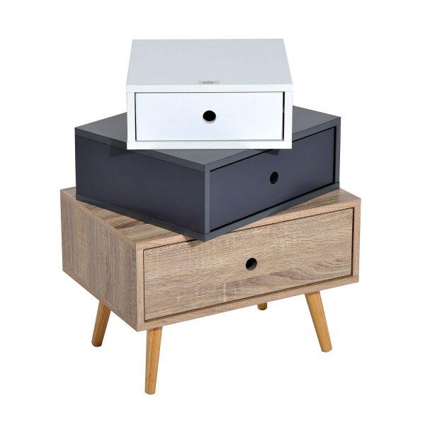 Homcom 3-Drawer Wooden Storage Chest