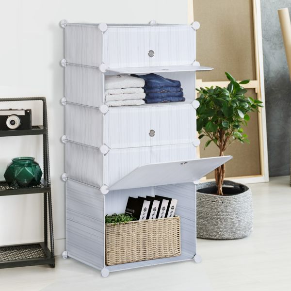 Homcom Tall Bedroom Storage Cabinet White