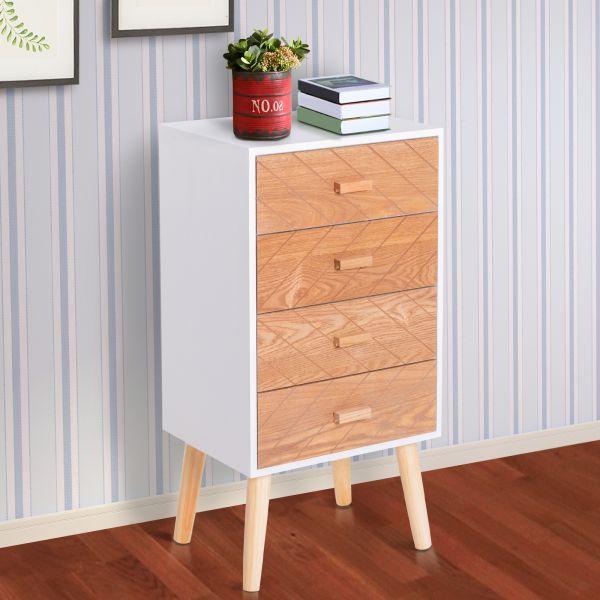 4 Drawers Bedside Cabinet