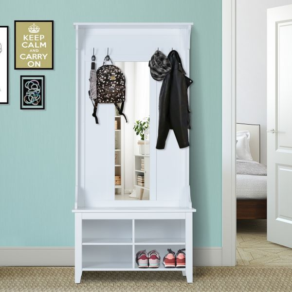 Homcom Hallway Coat & Shoe Storage Rack Organiser